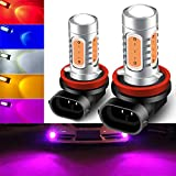 KaiDengZhe2pcs SUPER Bright Pink H11/H8 LED Bulbs for Fog Lights 7.5W COB Fog Lamp Driving DRL Lights 12V