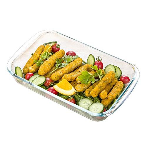 HARVESTFLY Cazuelas de cristal, bandeja rectangular para horno, ensaladas, platos de frutas,...