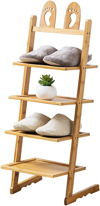 ZHIRONG Bamboo shoes Rack Multifunction Multilayer Storage Rack Creativity Bookshelf Organizer 33.5  31  48CM   33.5  31  63CM   33.5  31  77CM   33.5  31  93CM (Size   33.5  31  77CM)