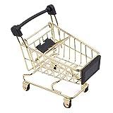 Yesiidor Mini carrito de compras de supermercado carrito de la compra de utilidad modo de almacenamiento de juguete carrito de juguete para mascotas, pájaros, loros, hámster