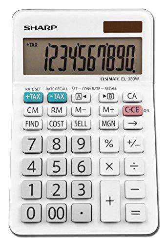 Sharp el-330wb Business calcolatrice, bianco 3.25