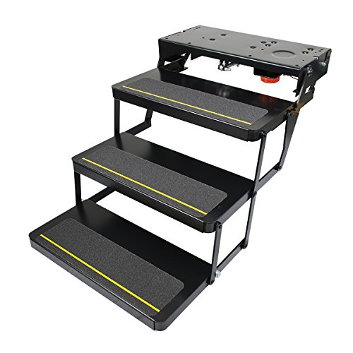 Kwikee 24 Series Electric Step Assembly with Logic Control Unit and No Switch Kit for RVs and Travel Trailers
