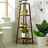 Magshion Bamboo Tall Plant Stand Pot Holder Small Space Table (4 Tier)