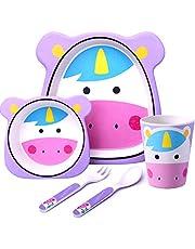 Delfin Talla:w/ählbar Baby ESSET Vajilla infantil 5/piezas con plato cubiertos Cuenco Taza de 3/colores a elegir blau