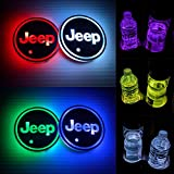 SKY_MALL 2PCS LED Car Cup Holder Lights for Jeep, Light Up Cup Holders for Your Car, Light...