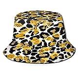 Sombrero de Pesca,Patrón de Leopardo Jaguar Animal Fur,Senderismo para Hombres y Mujeres al Aire Libre Sombrero de Cubo Sombrero para el Sol