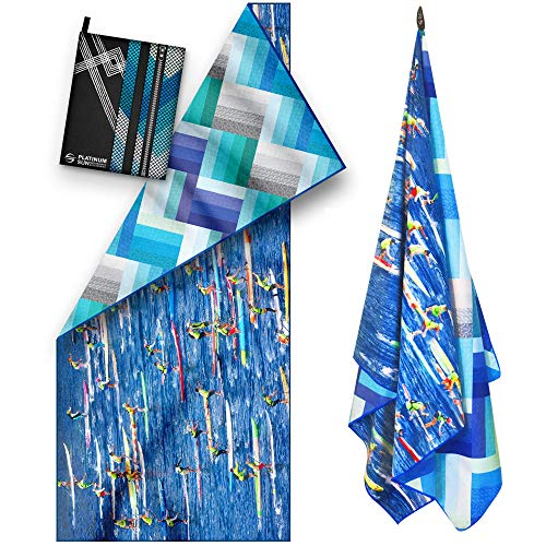 Microfiber Beach Towel - Compact Travel Towels Quick Dry - Sand Free Fast Drying Swim Towel for Pool Swimmers Bath Outdoor Hiking Camping - Double Sided (68' x 30' - Kayak)