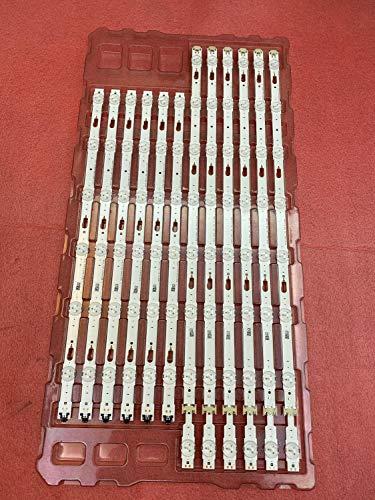 12 tiras de retroiluminación LED para Samsung UE55KU6000K UE55KU6000 UE55KU6100 UE55JU7500 UE55JU6740 UE55JU6400 UE55JU6745...