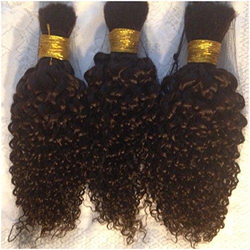 Kinky Curly 100% Human Brazilian Bulk Hair For Tree Braids, Brazilian Knots, Braiding, Etc. 14'...
