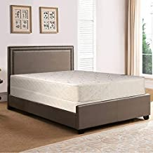 Spring Solution Medium Plush Innerspring Tight Top Mattress and Box Spring/Foundation Set, No Assembly Required, Queen Size