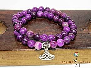 Sugilite Double Wrap Bracelet Crown Chakra Sugilite Agesta Healing Code Bracelet Sugilite Wrap Bracelet Sugilite Healing Meditation Bracelet