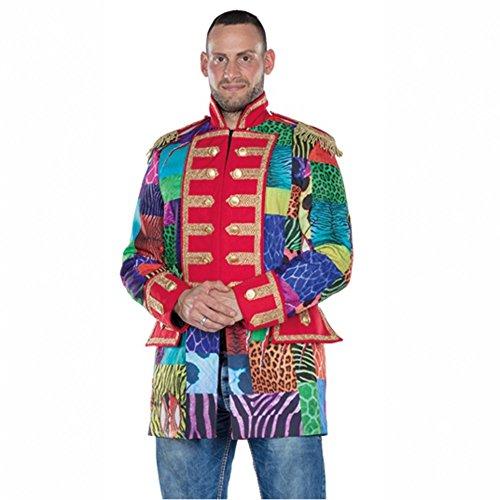 Herren Patchwork Jacke Gr. 52 bunt Fasching Sakko Jackett Karneval Garde