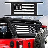Hoolcar Waterproof Car Bed Rest Roof Hammock Mesh Cargo Net Sunshade for 1997-2021 Jeep Wrangler TJ JK JKU JL JLU JT, American Flag