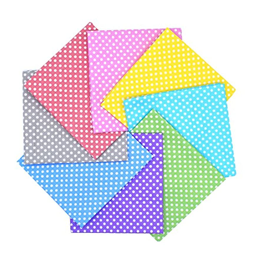 iNee Polka Dot Fat Quarters Quilting Fabric Bundles, Quilting Fabric for Sewing Crafting,18