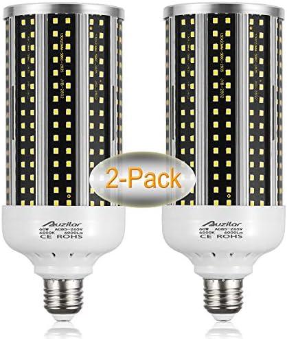 2 Pack 500W Equivalent LED Corn Light Bulb 6000 Lumen 6500K 60W Large Area Cool Daylight White product image
