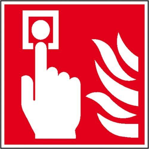 0747. Internationale Brandschutzkennzeichnung EverGlow Folienschild, Symbol