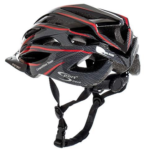 Sport Direct™ Herren Fahrradhelm Team Comp 24 Vent Graphit 58-61 cm CE EN1078:2012+A1:2012 - 5