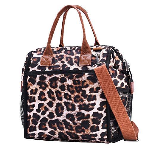 DOLAZAN Lunch Bag Insulated Lunch Box Lunch Tote Bag Work Lunch Bags for Women Men School Fishing Picnic Hiking Beach, Leopard Cheetah