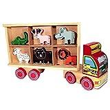 Brinquedo Educativo Caminhãozinho de Madeira Zootrans