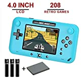ASPIRING Handheld Gaming Console, Handheld Video Games for TV Built in 208 Classic Games 4.0 Inch LCD Screen 8 Bit Video Game for Kids and Adults