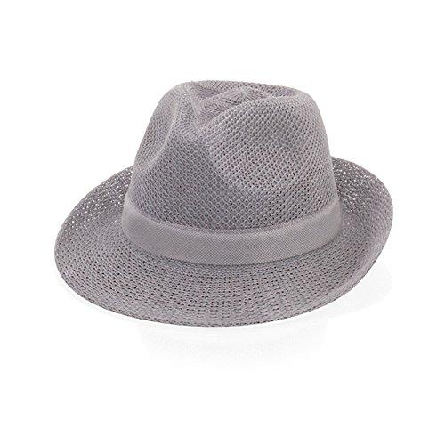 EBuyGB Chapeau d'été Unisexe Style Paille Gris Taille Unique