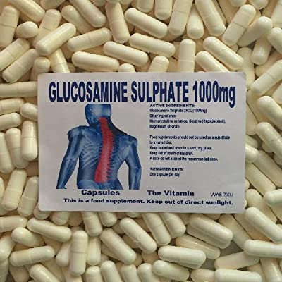 The Vitamin Glucosamine Sulphate 2KCL 1000mg 180 Capsules - Bagged