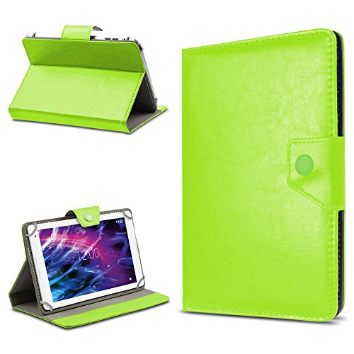 UC-Express Tablet Tasche für Medion Lifetab E10604 E10414 E10412 E10511 E10513 E10501 Hülle Schutzhülle Cover 10.1 Hülle, Farbe:Grün