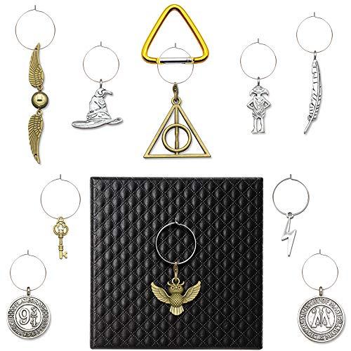 Weinglas-Charms Drink Marker 100/Set, Geschenke für Harry Potter Party Supplies Friends