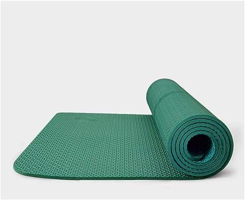 YXLZZO Tapis de Yoga pour débutant antidérapant 185cm × 80cm épaissi TPE épaissi épaissi avec Tapis de Yoga Tapis de Yoga (Couleur   Vert)