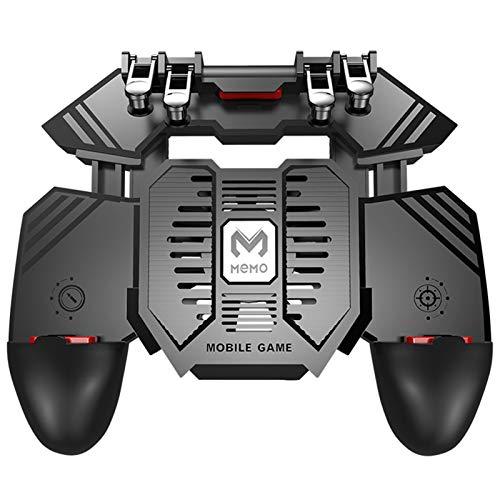 QiaoJia Radiador de teléfono móvil de gran capacidad de 4000 mAh, ventilador refrigerado por agua, con mango de seis dedos, gatillo...