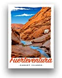 Fuerteventura Reise-Poster Karnevalsinseln Art Deco Retro