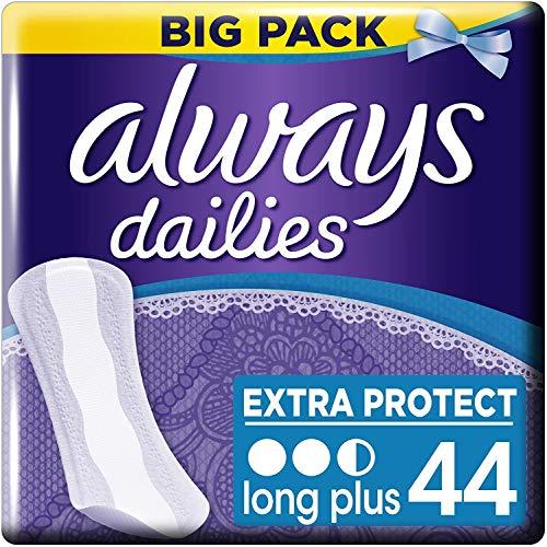 Always - Dailies Extra Protect Long Plus Inlegkruisjes - 3 x 44 Stuks