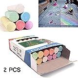 YQZ Tiza para niños, Pintura de tizas de Colores, Tiza de Pizarra para Maestros, papelería de Graffiti, borrable, Segura y Ambiental