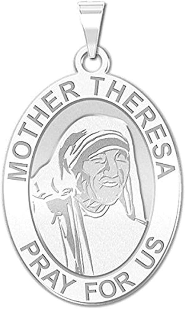 Limited time sale PicturesOnGold.com Mother Theresa - Oval And New Free Shipping Medal Religious 10K
