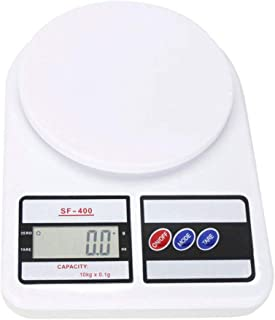 Precision Kitchen Food Scale for Baking and Cooking, Lightweight and Durable Design, LCD Digital Display,Measuring Scales- 22lb/10kg Capacity, 0.04oz/1g (SF-400)