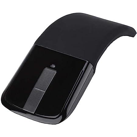 Dpofirs Ratón Inalámbrico Ergonómico,Mouse Aplanamiento Plegable,Bajo Ruido Inalámbrico ARC Mouse Touch Universal,Alta Sensibilidad 4 Teclas Ratón Mulitfuncional,Ratón Plegable Óptico Silencioso