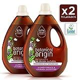 Botanical Origin Detergente Ecológico líquido para la ropa fragancia Jazmín Fresco y Lavanda Silvestre - 2 x 35 lavados - Total 70 lavados