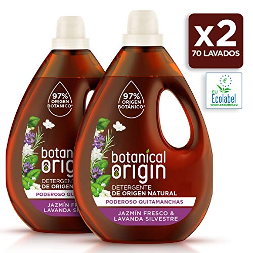 Botanical Origin Detergente Para Lavadora Ecológico Apto Para Pieles Sensibles, Fragancia Jazmín Fresco Y Lavanda Silvestre - 70 Lavados