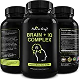 Nootropic Memory Supplement for Brain Support - Memory Pills for Brain Boost and Natural Energy Booster - Vitamin B 12 Bacopa Monnieri Rhodiola Rosea DMAE Ginkgo Biloba Phosphatidylserine Supplement