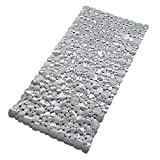 Xu zhe Nonslip Bathtub Mat, Extra Soft Bath Mats with Suction Cups Pebble Anti Slip New Design , Washable Bathroom Massage Shower Mat for baby, adult, old people