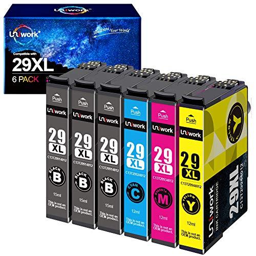 Uniwork 29XL Cartucce d'inchiostro Sostituzione per Epson 29 29XL Compatibile con Epson Expression Home XP-235 XP-245 XP-247 XP-255 XP-257 XP-332 XP-335 XP-342 XP-345 XP-352 XP-355 XP-432 XP-435