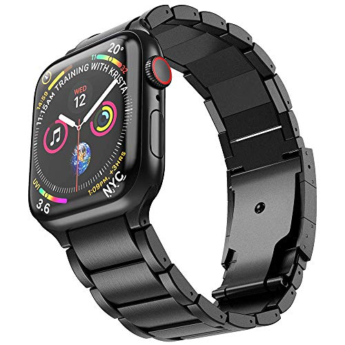 NotoCity Titanio Correa Compatible con iwatch Serie 1/2/3/4/