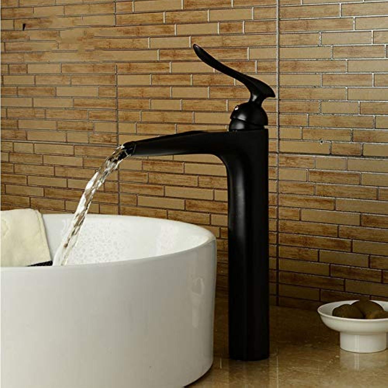 Lddpl Neue Ankunft Messing Becken Wasserhahn Hei Und Kalt Wasserfall Wasserhahn Einhebel Schwarz Nickel Toilette Wasserhahn Waschbecken