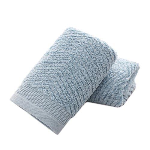 Preciosas y coloridas toallas de mano de algodón (azul claro, paquete de 2, 14 x 29 pulgadas) para baño, manos, cara, gimnasio y spa.