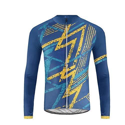 Uglyfrog Mens Cycling Jersey Thermal Long Sleeve Full Zipper Fleece Lightweight Breathable Winter Warm Cold Wear Tops MTB Mountain Bike Running Outdoor Sports