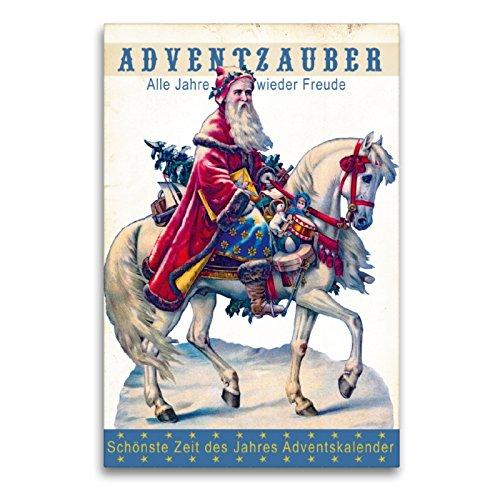 Calendario de Adviento con Texto en alemán Schönste Zeit Des Jahres, 60x90 cm