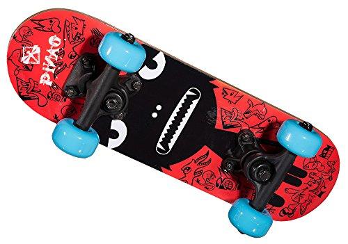 PiNAO Sports - Mini-Skateboard XXS Alien-Design für Kinder, kleines Kinder-Skateboard (11053) [PP-Achsen und -Base, Deck aus 9-lagigem Ahornholz, PVC Rollen, 608Z Kugellager]