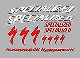 Ecoshirt F2-FVUZ-UO05 Pegatinas Hard Rock F48 Vinilo Adesivi Decal Aufkleber Клей MTB Stickers Bike, Rojo