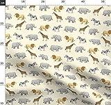 Safari, Tier, Elefant, Löwe, Zebra, Giraffe, Nashorn