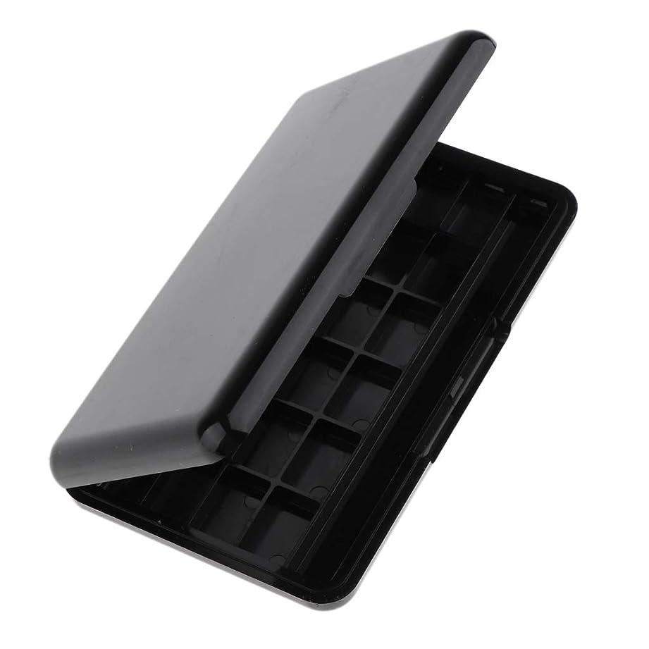 従順ミュウミュウメンテナンスDYNWAVE 全2色 ミラー付き 空の化粧パレット 24グリッド アイシャドー リップグロス 収納ケース - ブラック